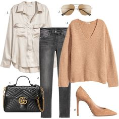 how to style grey jeans, classic sweater, gray jeans, casual outfit, outfit ideas, flat lay outfit, flatlays, blogger, outfit inspiration
