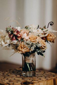 Bridal bouquet with pink and light orange roses | Image by Lukas Korynta Spring Wedding Bouquets, Flower Bouquet Wedding, Bridesmaid Bouquet, Floral Wedding, Bridal Bouquets, Country Wedding Flowers, Bohemian Wedding Inspiration, California Wedding, Dream Wedding