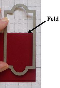 Making a double fold card with a die *** Een dubbel gevouwen kaart maken met een stansmal #diecutting