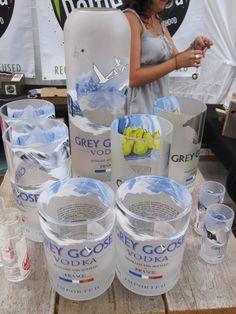 Brilliant reuse of Grey Goose bottles. By BottleHood http://www.bottlehood.com/