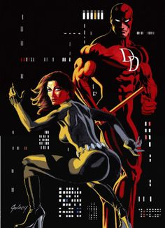 Daredevil and Black Widow by Paul Gulacy *