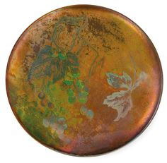 MASSIER Clement (1844-1917) - Flat circular earthenware