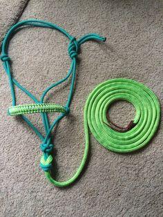 Custom Cobra Rope Halter with Premium 14ft by EquineEssentials2014