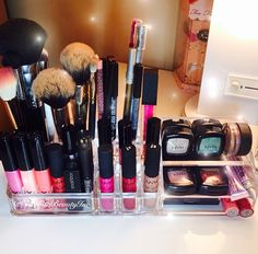 Great Make-up organization ideas!!! Love this!