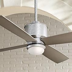 """52"""" Minka Aire Strata Galvanized Ceiling Fan with Light Kit"""