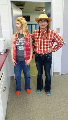 Easy Joe Dirt and Kicking Wing costume! #halloween