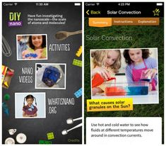 Best Science Apps for Early Elementary Kids: DIY Nano and DIY Sun Science apps
