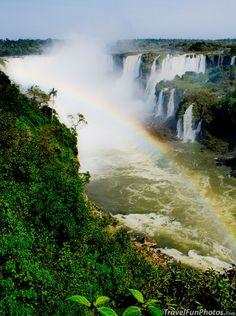 Foz do Iguaçu Waterfall in South Brazil