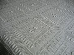 Ravelry: Bedspread (Counterpane with Leaves) pattern by A.M.
