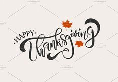 Thanksgiving Lettering Typography - Templates Hi there, this is a card from my new Thanksgiving Set)!