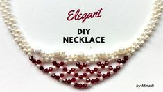 DIY Necklace. Necklace Making Tutorial. Elegant, Easy, Fast - YouTube