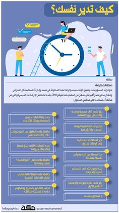 إنفوجرافيك كيف تدير نفسك جراف إنفوجرافيك صحيفة مكة Olla Motivation Infographic