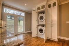 Home - Pioneer Cabinetry Laundry Solutions, Classic White Kitchen, Laundry Design, Stacked Washer Dryer, Home Appliances, Crisp, Kitchens, Spaces, Ideas