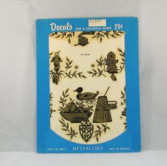 Vintage Meyercord Antique Decals by VintageCreekside on Etsy, $5.00
