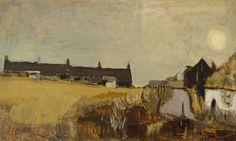 Joan Eardley: Winter Landscape, 1954 (oil on canvas) Watercolor Landscape, Abstract Landscape, Landscape Paintings, Watercolour, Abstract Art, Aberdeen Art Gallery, Summer Landscape, Art Uk, Contemporary Landscape