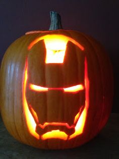 Patti's Creations: Iron Man lit - Real Time - Diet, Exercise, Fitness, Finance You for Healthy articles ideas Halloween Pumpkin Designs, Halloween Stencils, Fun Halloween Crafts, Outdoor Halloween, Halloween Pumpkins, Halloween Ideas, Halloween Costumes, Pumpkin Stencil, Pumpkin Art