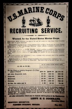 US Marine Corps Recruiting Poster at the National Museum of the Marine Corps Quantico VA