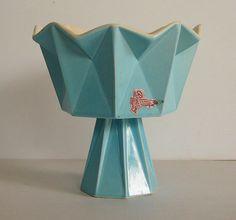 1960s Belle Kogan Prismatique Pedestal Bowl, Red Wing Pottery