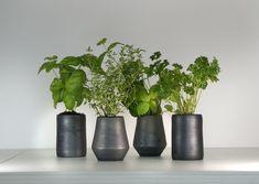 Ceramic Planters, Planter Pots, Ceramics, Plants, Black, Ceramic Pots, Ceramica, Pottery, Black People
