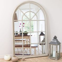 Home Decoration on Maisons du Monde. Take a look at all the furniture and decorative objects on Maisons du Monde. Window Mirror, Wood Mirror, Hallway Furniture, Dining Room Furniture, Beige Mirrors, Sun Lounger Cushions, Living Room Mirrors, Living Rooms, Home Accessories