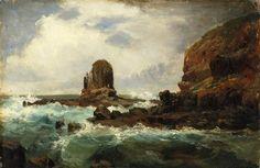 An image of Pulpit Rock, Cape Schanck, Victoria by Nicholas Chevalier