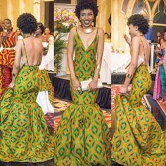 Gorgeous African Print Dress Ankara Dress by Jezafricanna on Etsy African Prom Dresses, African Dresses For Women, African Attire, African Wear, African Women, African Style, African Shop, Tribal African, African Outfits