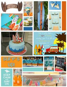 Surf's up!  What a great charming surfer theme. We think you will like our upcoming Left Right Pup...with a park & surfer beach theme.  Love your party idea!