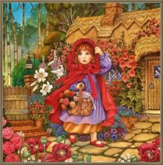Little Red Riding Hood, illustration by Carol Lawso