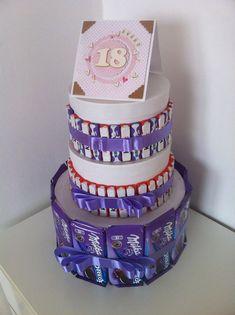 birthday cake, diy gift, favourite sweets, urodzinowy tort bez pieczenia, 18 urodziny, pomysł na prezent,