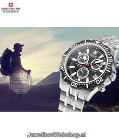 wiss Military Hanowa horloge 06-5305.04.007 Patrol Chrono heren Staal met Zwarte Wijzerplaat. #swissmilitaryhanowa #watch #chronograaf #herenhorloge #style #swissmade #style #menswatch #juwelierswebshop