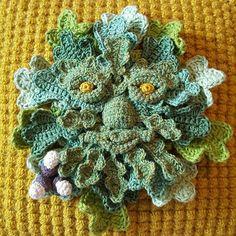 green #crochet sculpture art