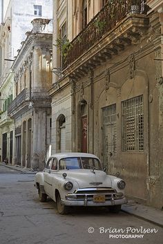 Vintage Car Havana Streets Cuba: by Brian Povlsen Photography