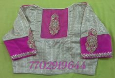 gold blouse with net on back and on hands with butti attached 7702919644