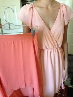 Bridesmaid in peach dress
