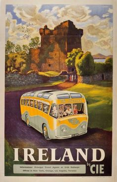 The poster art used to promote early Irish tourism   Irish Examiner #Vintagetravelposters