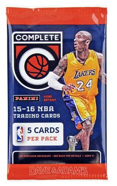 2015 / 2016 Panini Complete NBA Basketball 6 Packs of 5 Cards Each