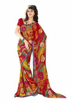 Branded Indian Women Sari Printed Red & Yellow Fabdeal, http://www.amazon.de/dp/B00EQECHBQ/ref=cm_sw_r_pi_dp_-AQptb18BK62G