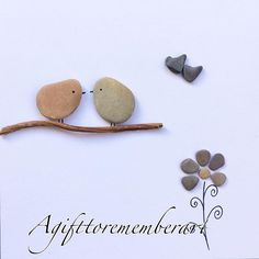 """Love birds and flower"" #agifttorememberart #pebbleart #nature #makersgonnamake #etsy #etsyseller #frame #australia #art #handmadeart #giftideas #love #anniversary #cute #craft #driftwood #stones #flower #birds #unique #roomdecor #adelaide #beach#instaart #instaphoto #madebyme"