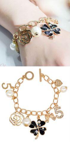 Charm Bracelets – Bracelet with charms, chain length 19cm,1pcs – a unique product by birdofparadise97 on DaWanda