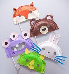 Animal paper plate masks for kids  // Állati maszkok gyerekeknek papírtányérokból // Mindy - craft tutorial collection