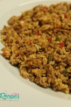Homemade dirty rice made with ground turkey!                                                                                                                                                                                 More