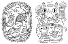 Posh Adult Coloring Book: Cats & Kittens for Comfort & Creativity: Amazon.co.uk: Flora Chang: 9781449478735: Books