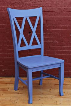 dining chair comes in many colors--aquamarine, clay, yellow, avocado, etc.