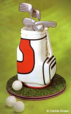 Party Cakes...cute golf cake idea