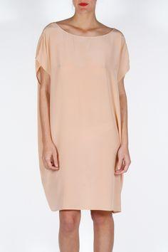Jesse Kamm Silk Sack Dress | Kick Pleat