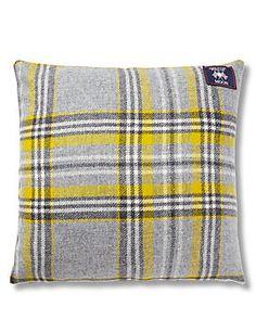 Grey Mix MOON Graphite Check Cushion