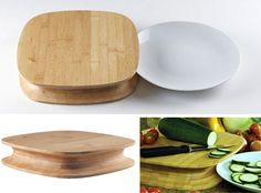 This Chop designed by French designer Patrick, simply adds a concave groove around the rim that allows you to slide a plate below the cutting surface and easily scrape chopped food onto it.