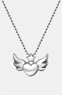 heart and wings pendant