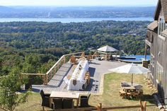 What a view! Rustic chic mountainside weddings at Lambs Hill. www.lambshill.com  Jen Lynne Photo.