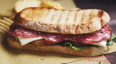 This Italian panini sandwich is simple to prepare and takes only minutes to make. Serve with kettle chips and a dill pickle for a real deli-style lunch. Best Panini Recipes, Sandwich Recipes, Grilling Recipes, Snack Recipes, Cooking Recipes, Cooking Tips, Snacks, Panini Sandwiches, Grilled Sandwich